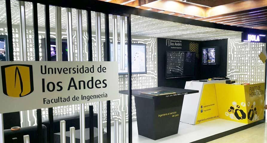 Estructura y naturaleza en stand Universidad de los Andes