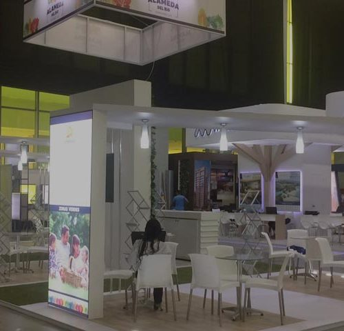 Stand Constructora Amarillo en Barranquilla