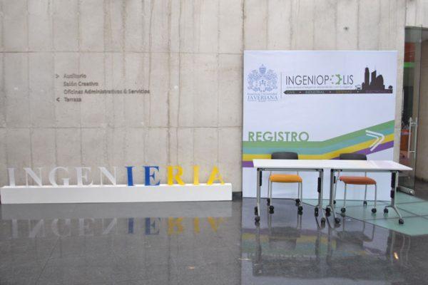 Vista de entrada al evento, backing de registro