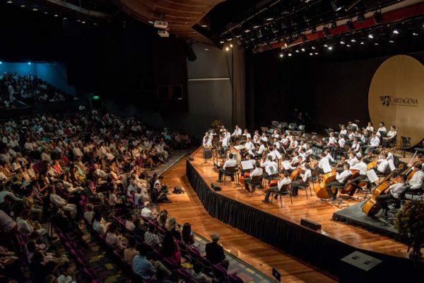Vista del aforo al concierto