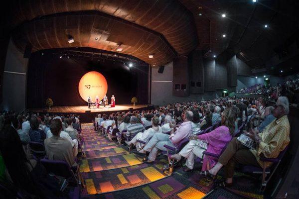 Vista sobre el escenario del Auditorio Getsemaní
