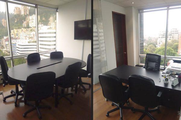 Diseño de sala de juntas con muebles hechos a medida