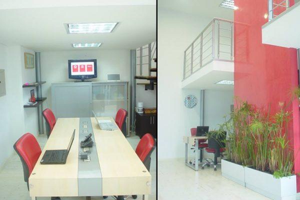 Vista general de las oficinas