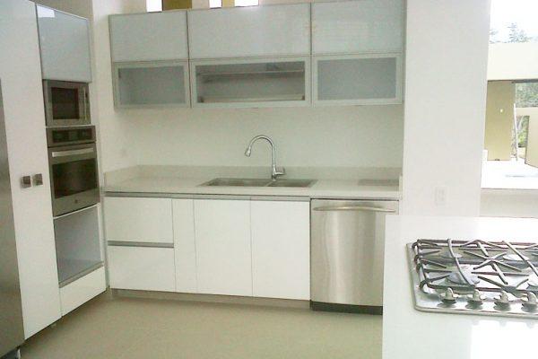 muebles laminados en cocina integral para constructoras