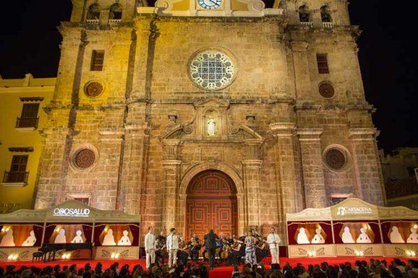 Vista aérea escenografía conciertos Auditorio Getsemaní