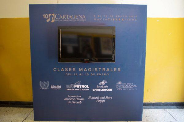 Vista Muro tv para señalización Universidad de Cartagena
