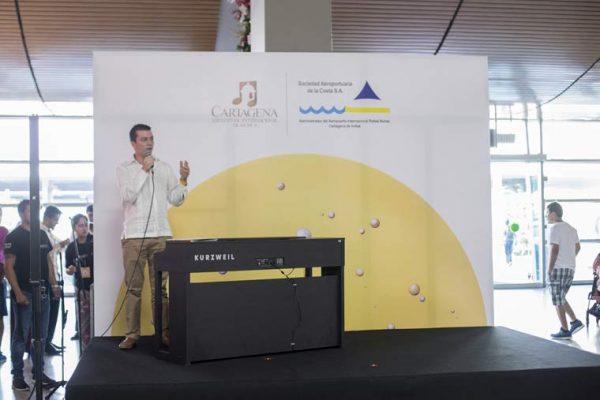 Vista Backing concierto Aeropuerto internacional de Cartagena de Indias